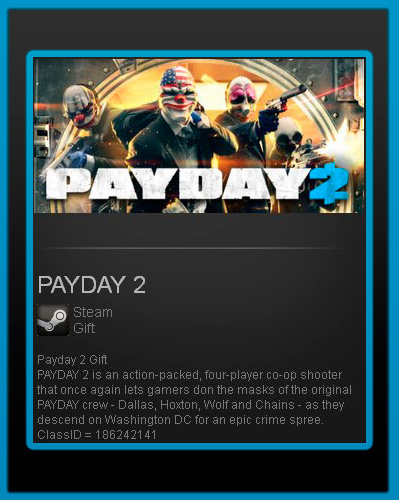 Payday 2 (Steam gift / Region free / ROW)