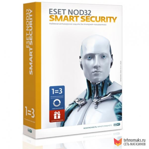 ESET NOD32 Smart Security 3ПК 2 года