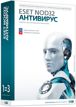ESET NOD32 Antivirus 3 PC 1 year EXTENSION