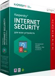 Kaspersky Internet Security 2018 2 ПК 1 год ПРОДЛ