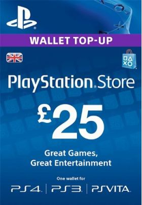 PlayStation Network PSN 25£ GBP фунтов (UK)+СКИДКИ