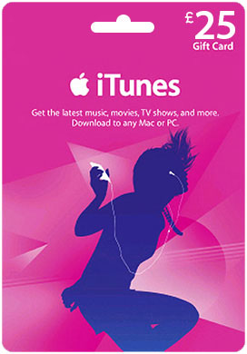 iTUNES GIFT CARD - 25 (UK/SCAN)