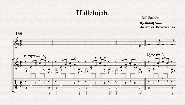 Аллилуйя на русском (hallelujah russian version) cover на гитаре русский вариант текст там такой