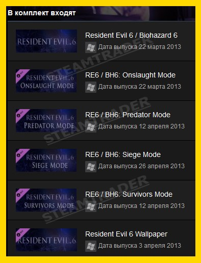 Resident Evil 6 Complete Pack STEAM GIFT REGION РФ СНГ