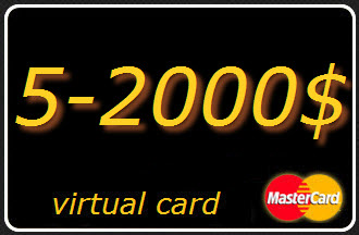 5-1500 $ (USD) virtual card Mastercard (A statement)