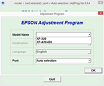 Adjustment program Epson XP-320, XP-420, XP-424