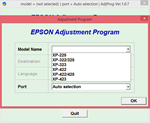 Adjustment program Epson XP-225, XP-322, XP-323,XP-423