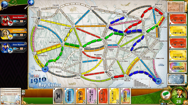 Ticket to Ride 1910 USA DLC (Steam Key / Region Free)