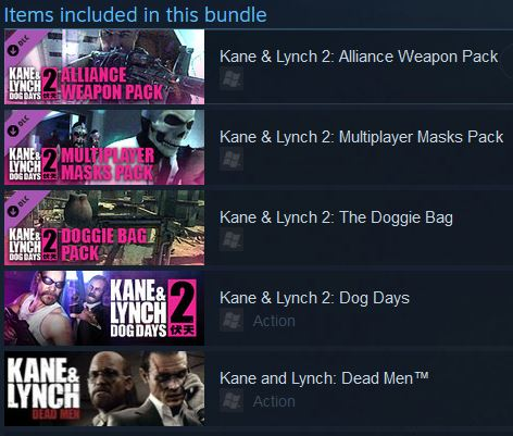 KANE AND LYNCH COLLECTION (2 GAMES)(Steam)(Region Free)