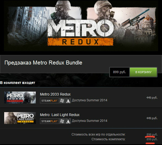 Metro Redux Bundle (Steam Gift RU-CIS)