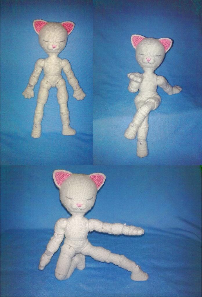 Описание вязания шарнирной куклы Алисы