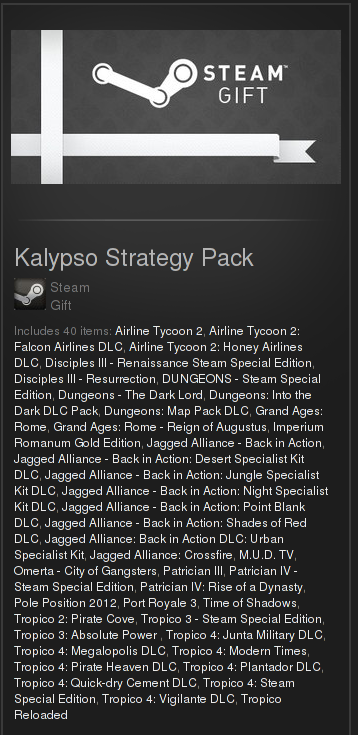 Kalypso Strategy Pack (Region Free, steam gift)