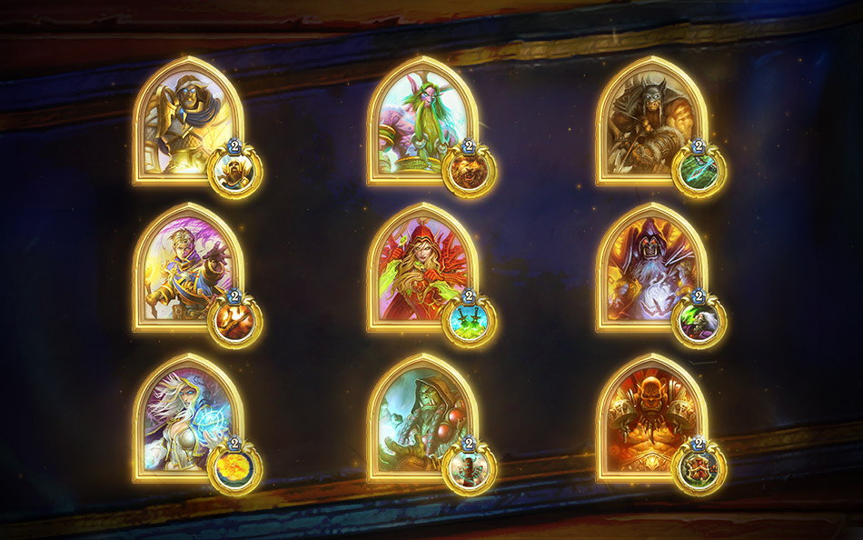 Hearthstone - Gold portrait of the character. 500 wins