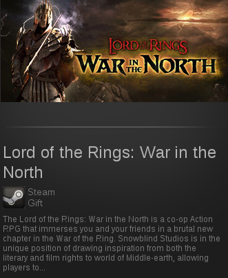 Lord of the Rings: War in the North | SteamGift RegionF