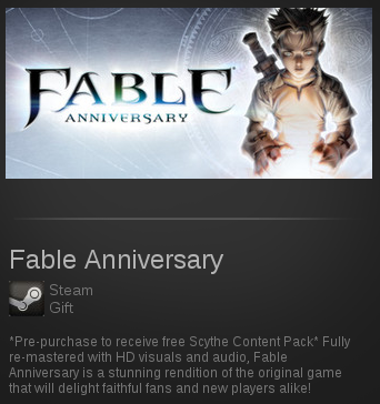 Fable Anniversary | SteamGift RegionFree