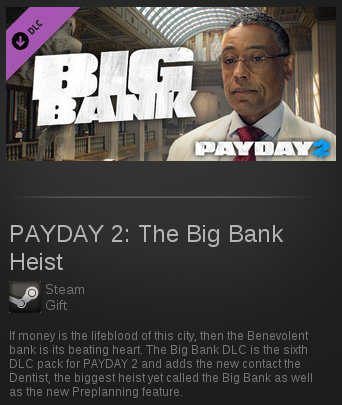 PAYDAY 2: The Big Bank Heist | SteamGift RegionFree