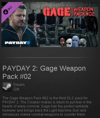 PAYDAY 2: Gage Weapon Pack #02 | SteamGift RegionFree