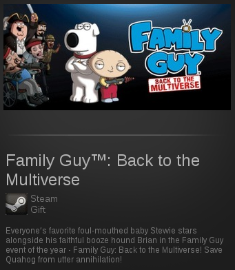 Family Guy: Back to the Multiverse | SteamGift ROW