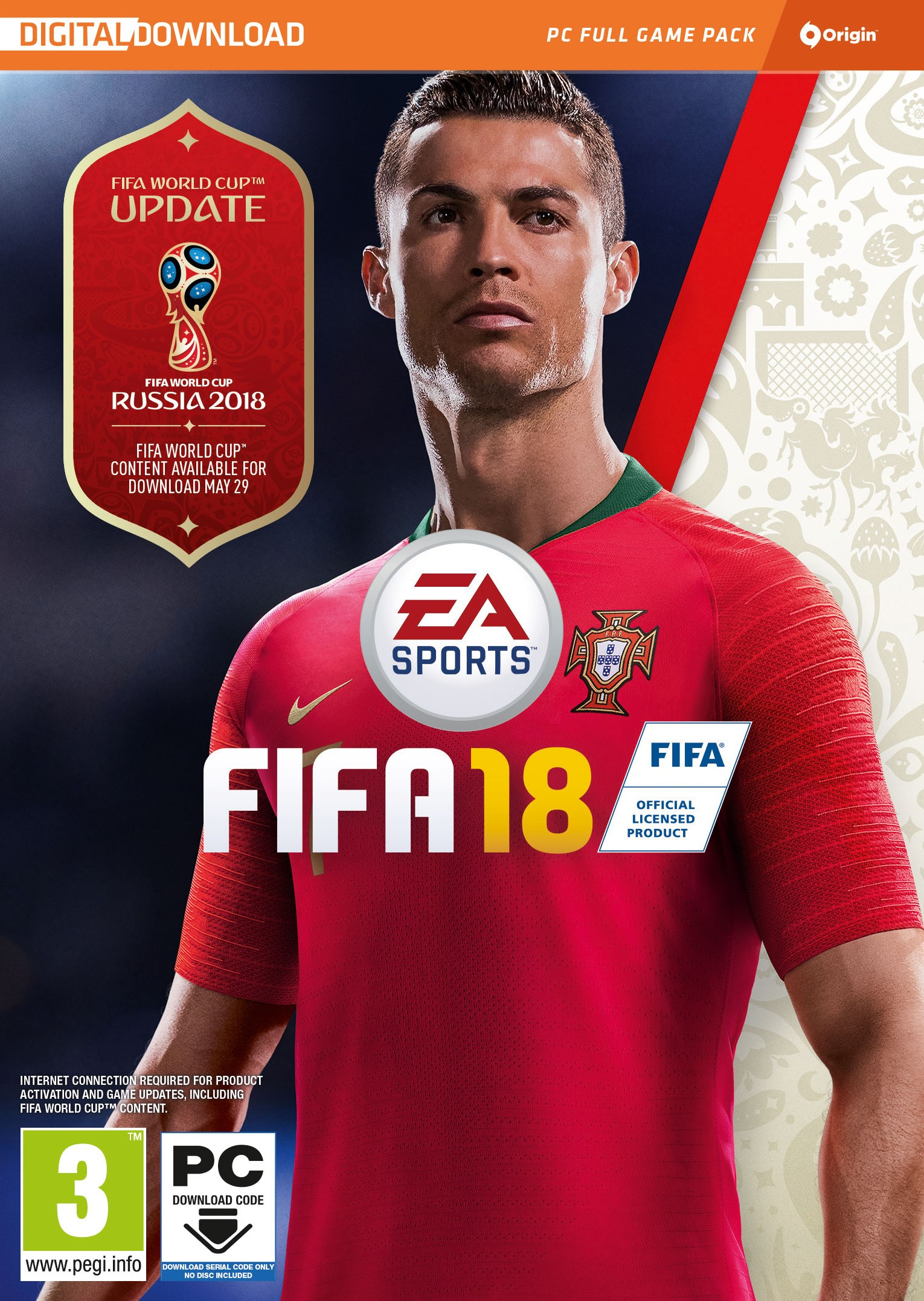 FIFA 18 (Origin Key) - Region Free/RU