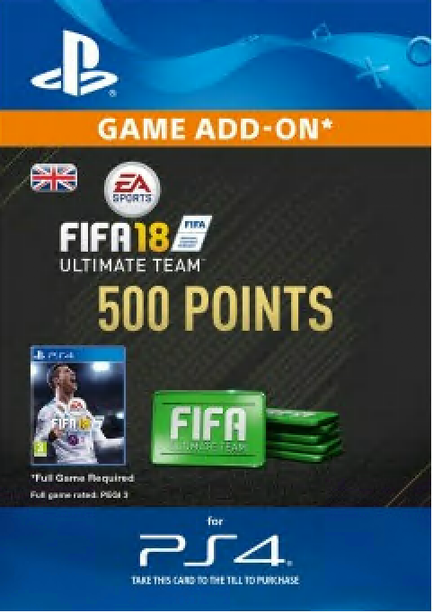 FIFA 18 - 500 FUT Points (PS4) /UK