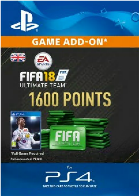 FIFA 18 - 1600 FUT Points (PS4) /UK