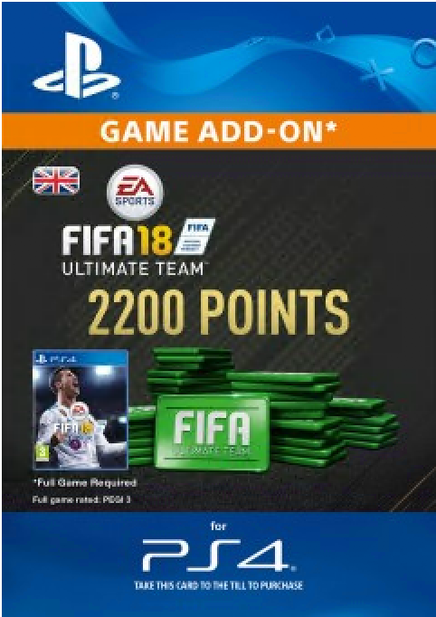 FIFA 18 - 2200 FUT Points (PS4) /UK