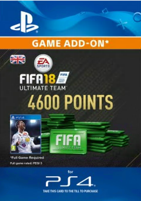 FIFA 18 - 4600 FUT Points (PS4) /UK