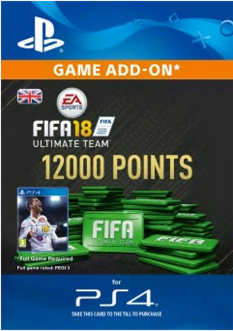 FIFA 18 - 12000 FUT Points (PS4) /UK