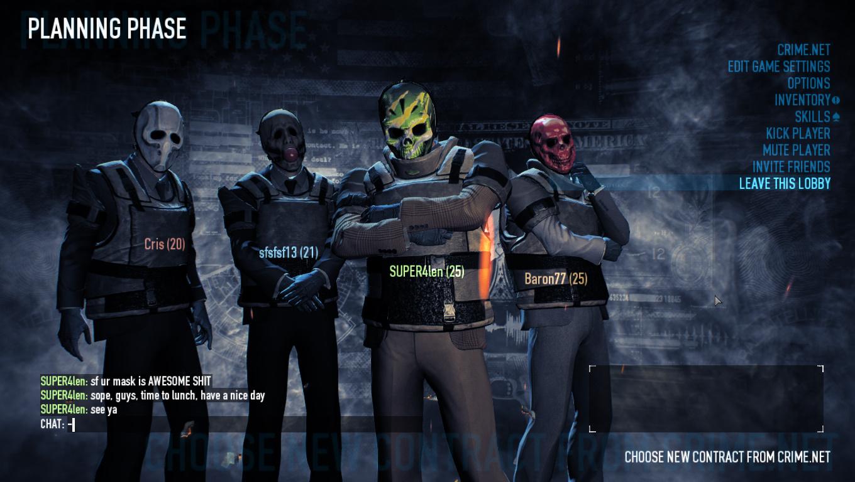 Payday 2 картинки маски 4