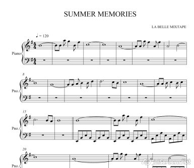 Summer Memories ноты для фотепиано