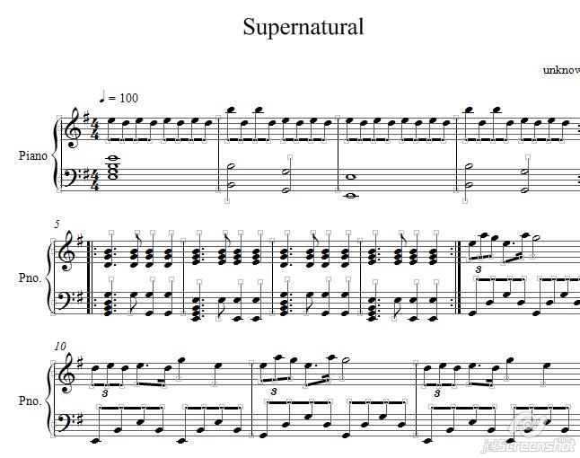 SuperNatural ноты для фортепиано