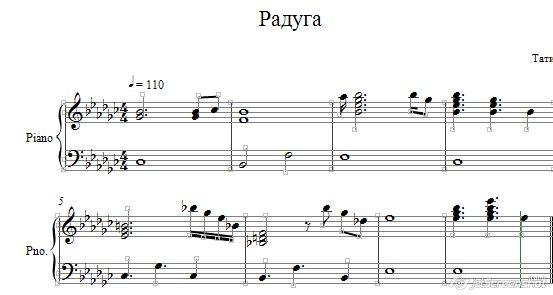 Радуга /Тати/ ноты для фортепиано