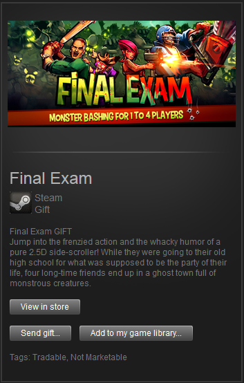 Final Exam (Steam Gift) Region Free