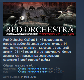 Red Orchestra: Ostfront 41-45 ( STEAM GIFT RU + CIS )