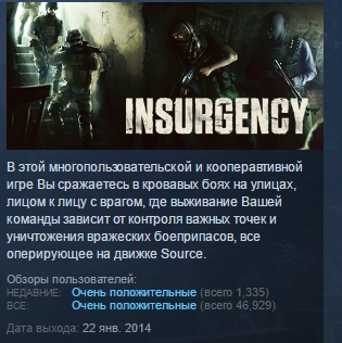 INSURGENCY 💎 ( STEAM GIFT RU + CIS )