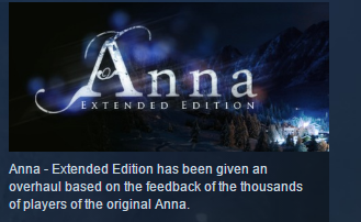 Anna - Extended Edition STEAM KEY REGION FREE GLOBAL