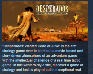 Desperados Wanted Dead or Alive STEAM KEY КЛЮЧ ЛИЦЕНЗИЯ