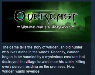 Overcast Walden and the Werewolf STEAM KEY GLOBAL ROW