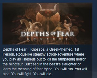 Depths of Fear :: Knossos STEAM KEY REGION FREE GLOBAL