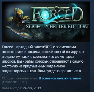 FORCED: Slightly Better Edition STEAM KEY REGION FREE