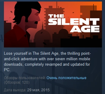The Silent Age ( Steam Key / Region Free ) GLOBAL ROW