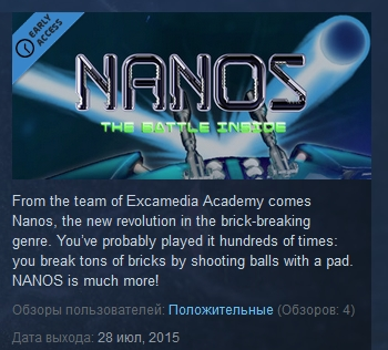 NANOS  ( Steam Key / Region Free )