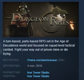 Dungeon Rats STEAM KEY REGION FREE GLOBAL