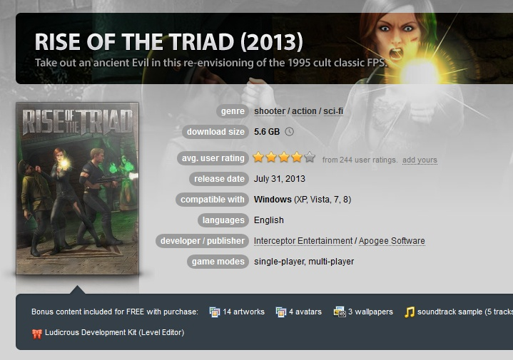 Rise of the Triad 2013 ( GOG.COM Key )