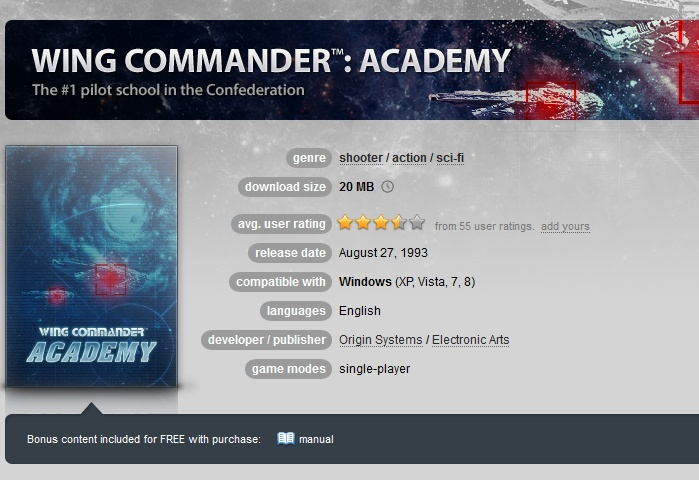 Wing Commander: Academy ( GOG.COM Key )