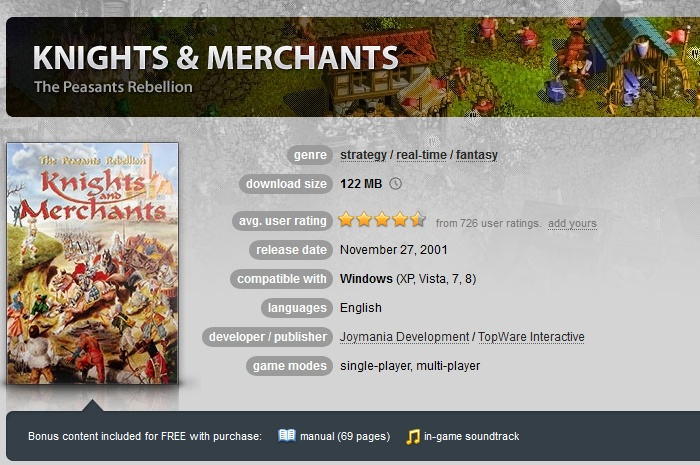 Knights and Merchants The Peasants Rebellion  GOG.COM