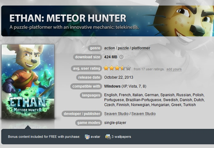 Ethan: Meteor Hunter  ( GOG.COM Key )