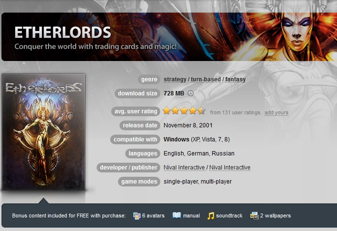 Etherlords ( GOG.COM Key )