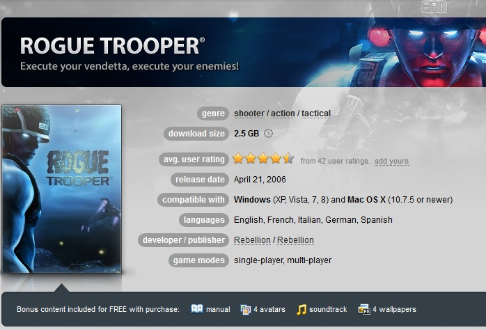Rogue Trooper ( GOG.COM Key )