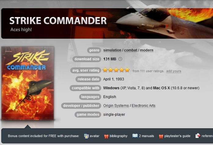 Strike Commander ( GOG.COM Key )